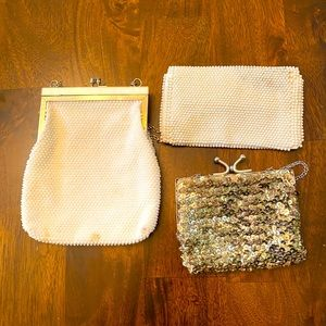 Vintage purses (all3) beaded or and sequins.